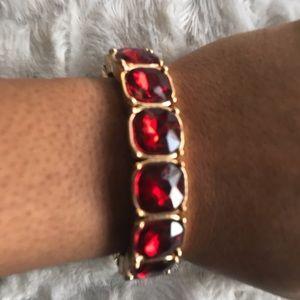 #ShopMyCloset! Sale! Red rhinestone gem bracelet